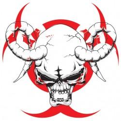 tee shirt biohazard skull...