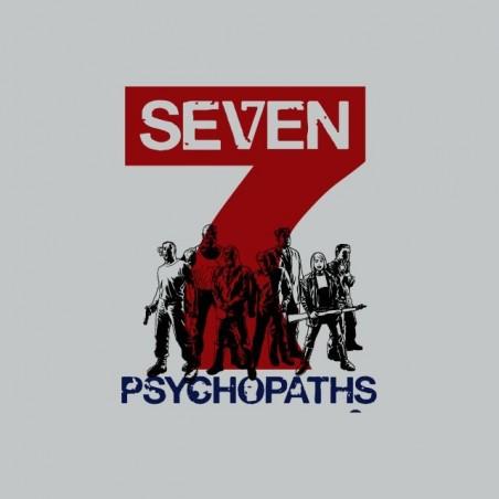 Tee shirt 7 psychopaths mix art gris sublimation