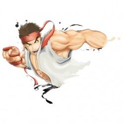 Tee shirt Ryu illustration...