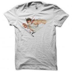 Ryu Street Fighter illustration white sublimation t-shirt