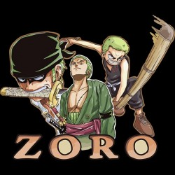 T-shirt roronoa zoro one piece black sublimation
