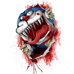 Tee shirt Doremon en zombi...