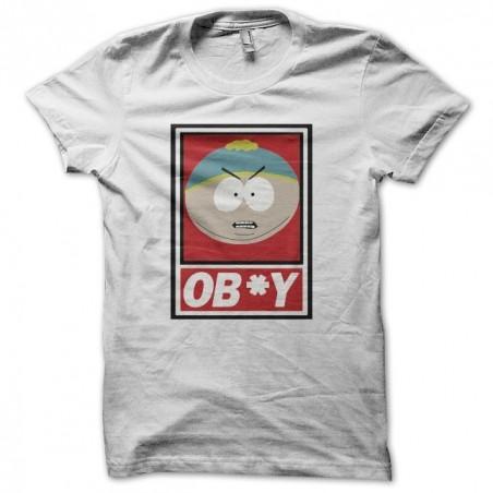 South Park t-shirt parody Cartman ob * y white sublimation