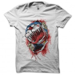Doremon t-shirt in white zombie sublimation