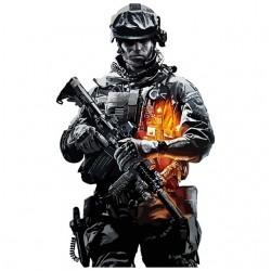 Warrior of battlefield white sublimation t-shirt
