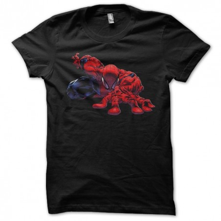 Spiderman tee-shirt starting block black sublimation