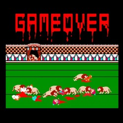 Tee shirt Game over lions 16 bits  sublimation