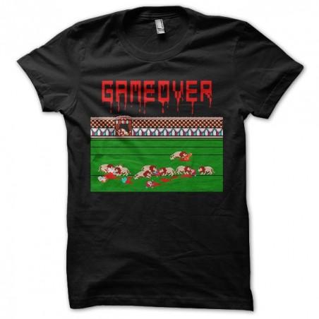 Game over lions 16-bit black sublimation t-shirt