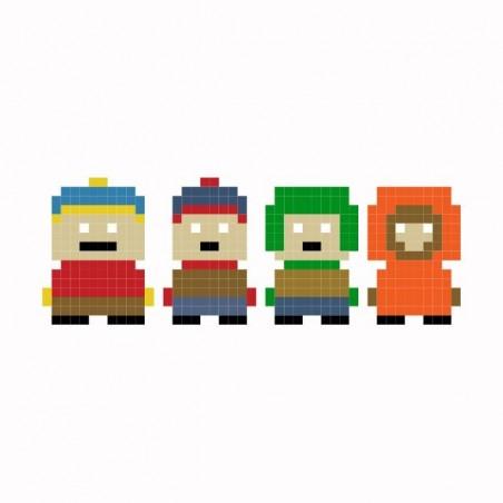 South Park parody white pixel sublimation t-shirt