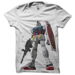 GUNDAM RX78 white sublimation t-shirt