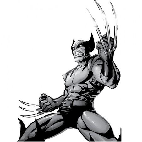 T-shirt Wolverine tattoo style white sublimation
