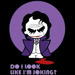 Do I look like I am joking? parody joker black sublimation