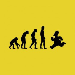 Tee shirt Homer evolution  sublimation