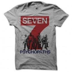 7 psychopaths mix art gray sublimation tee shirt
