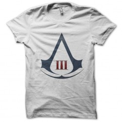 T-shirt video game assassins creed logo on white sublimation