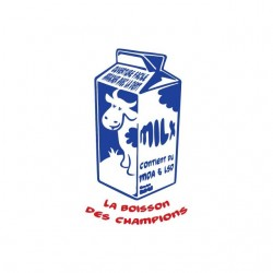 T-shirt Milx the drink of champions white sublimation