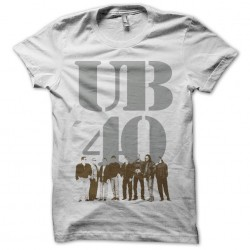 T-shirt UB40 silver and...