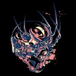 t-shirt skeleton spider...