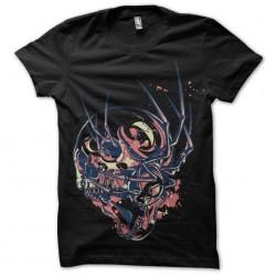 t-shirt skeleton spider black sublimation