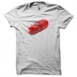 White sublimation love capsule t-shirt