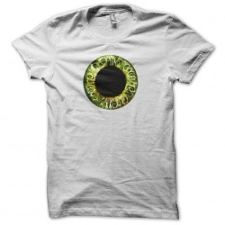 White sublimation dilated pupil t-shirt