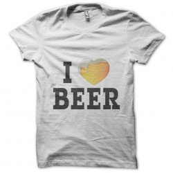 Tee Shirt I love white beer...