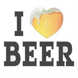 Tee Shirt I love white beer sublimation