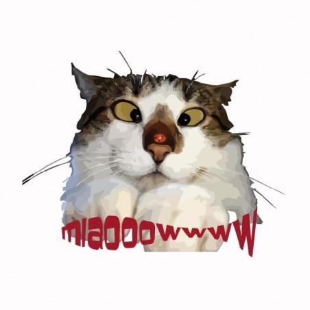 T-shirt cat that ladle white sublimation