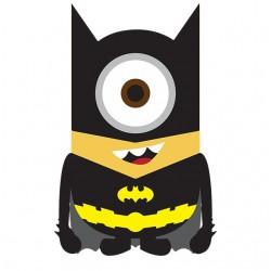 Minion parody batman white...
