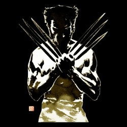t-shirt character wolverine 2 black sublimation