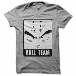 tee shirt ball team parodie dragon ball gris sublimation