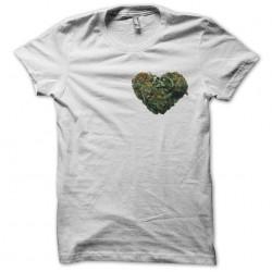 Tee shirt cannabis coeur de beuh  sublimation