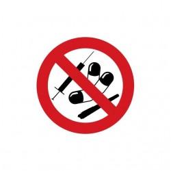 T-shirt anti drugs banned...