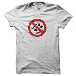 T-shirt anti drugs banned panel white sublimation