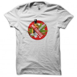 Tee shirt anti drogues No Drugs  sublimation
