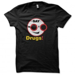 Say drugs anti-drugs pictogram Say no to drugs black sublimation