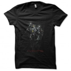 Jaeger Japanese robot black sublimation t-shirt