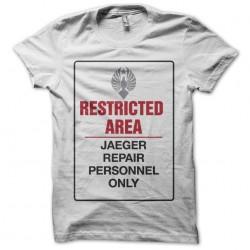 Jaeger prohibited zone white sublimation t-shirt