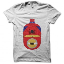 T-shirt minion parody spider man white sublimation