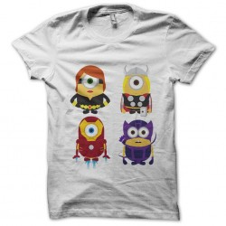 Minion gang t-shirt vicking robots in white sublimation