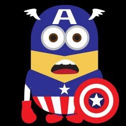 Tee shirt Minions parodie Captain America  sublimation