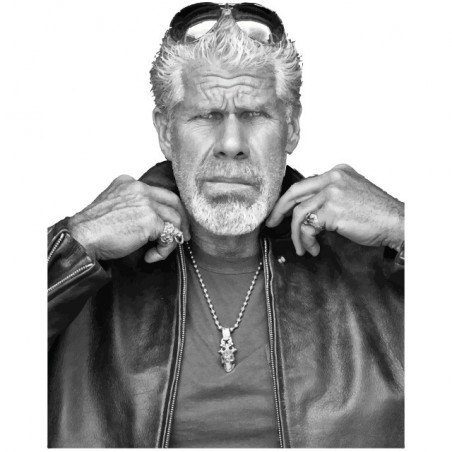 Ron Perlman Sons of anarchy t-shirt Clarence Clay Morrow white sublimation