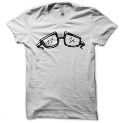 T-shirt geek glasses white...