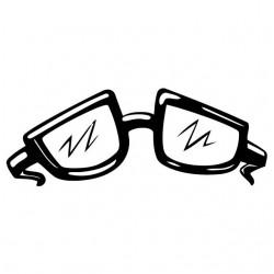 T-shirt geek glasses white sublimation
