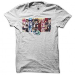Pangya characters white sublimation t-shirt