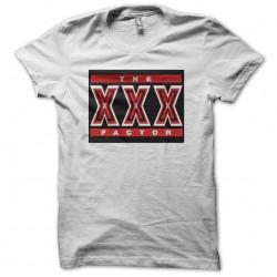 The XXX factor white sublimation t-shirt