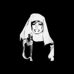 Nonne t-shirt with a black sublimation gun