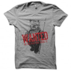 Ewok t-shirt wanted gray sublimation