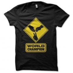 T-shirt Pierrefeuilleciseaux world champion black sublimation