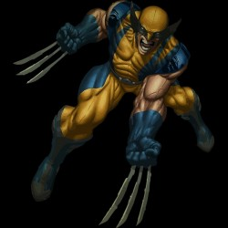 Wolverine attack black sublimation t-shirt